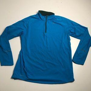 Nike Running Dri Fit Quarter Zip Long Sleeve Large